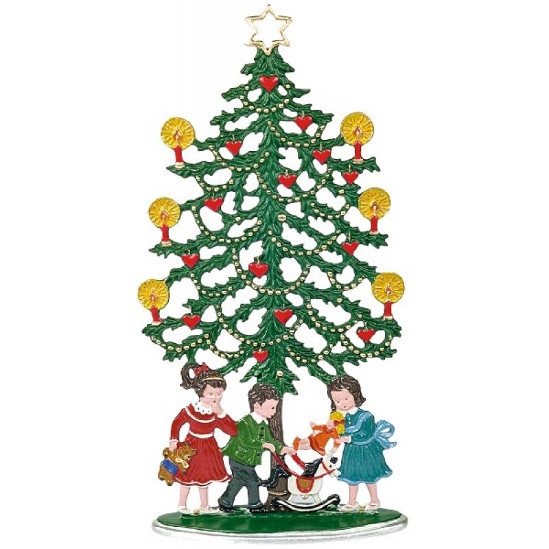 zinnfigur weihnachtsbaum mit kindern zum stellen. Black Bedroom Furniture Sets. Home Design Ideas