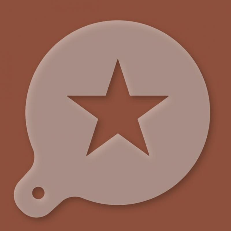 Cappuccino-Schablone Stern