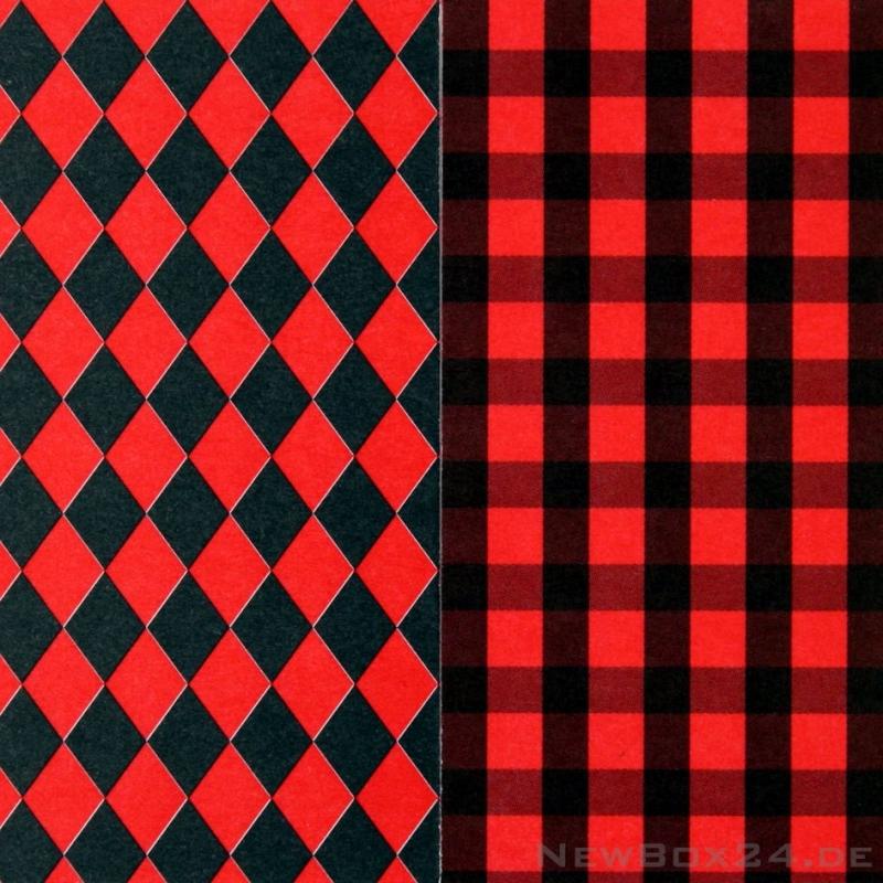 karton dekor 61 rauten karo rot schwarz. Black Bedroom Furniture Sets. Home Design Ideas