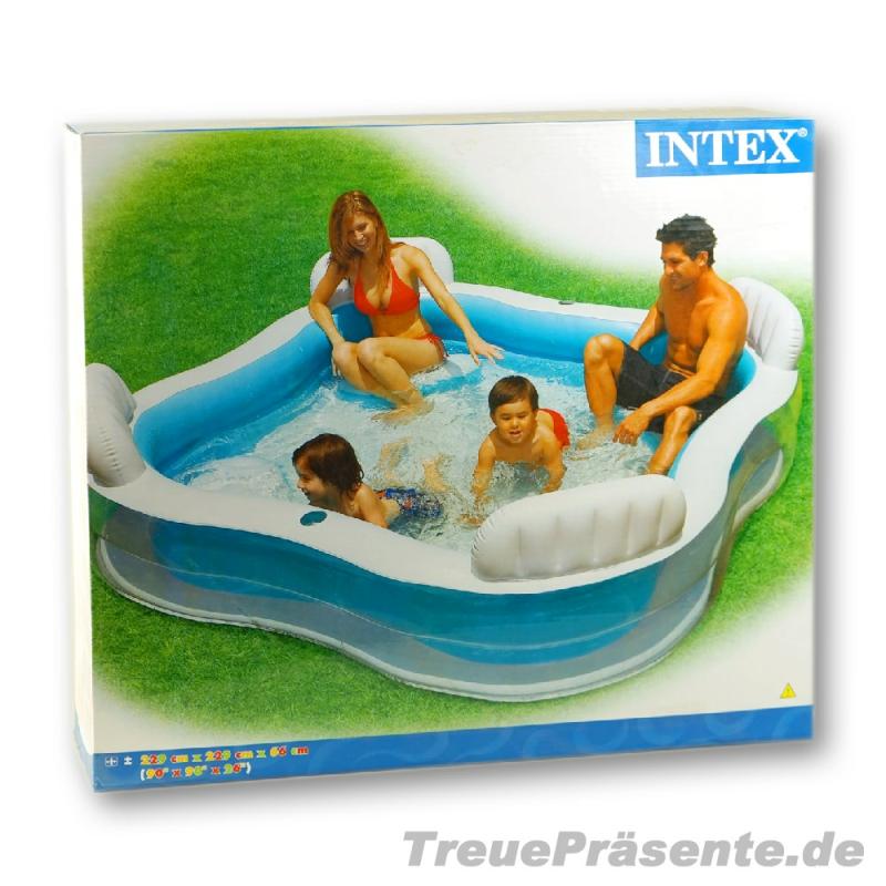 Familien schwimmbecken 2 3 x 2 3 m 4 r ckenlehnen for Schwimmbecken rund 4 m